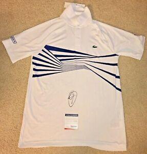 Novak Djokovic Signed Lacoste Shirt Polo Tennis Australian Open 2020 Us Psa Ebay