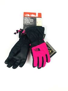New-THE-NORTH-FACE-Youth-Montana-Gore-Tex-Ski-Gloves-Youth-Size-Small