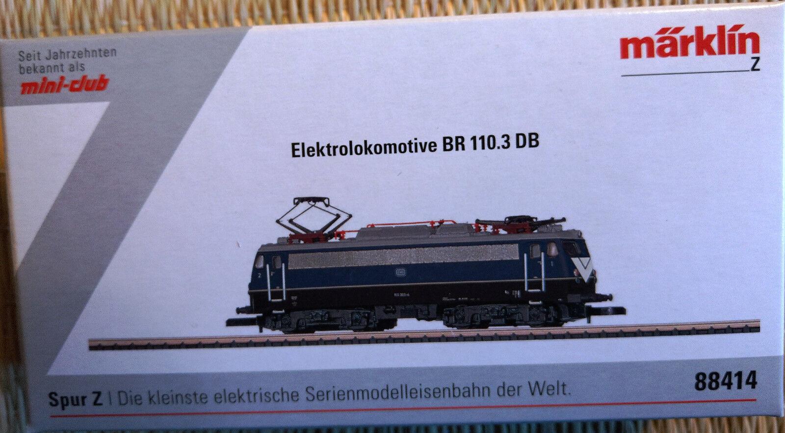 Märklin 88414 elektrolokomotive BR 110.3 DB * piega stiratura * NUOVO