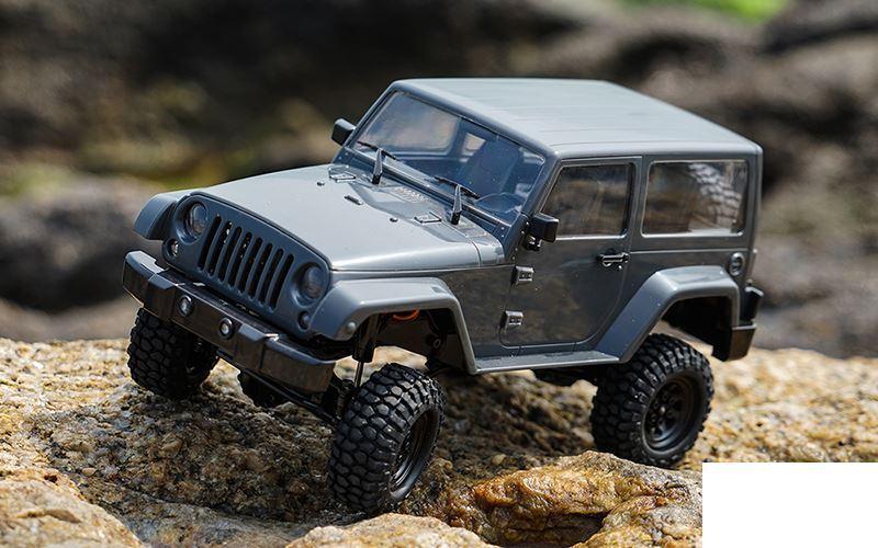 RC4WD 1 18 Gelande II RTR con negro Rock Cuerpo Set Z-RTR0037 gris Jeep 18th Batt