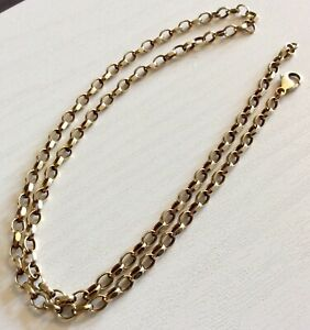 Super-Quality-Gents-Vintage-Solid-9-Carat-Gold-Neck-Chain-18-inch-Necklace