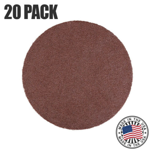 "12/"" 80 Grit Sanding Disc Aluminum Oxide PSA Cloth Backed Discs 20 Pack"