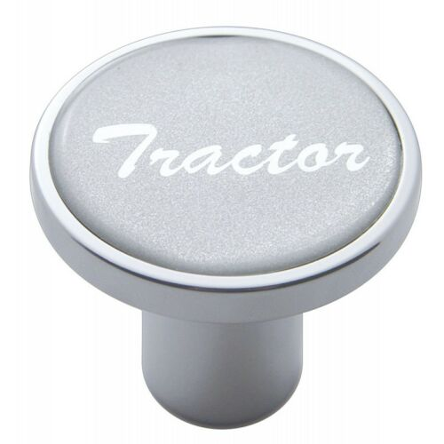 knob tractor screw on silver glossy sticker for Kenworth Peterbilt Freightliner