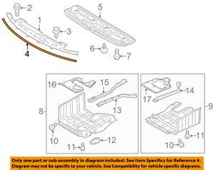 KIA OEM 11-16 Optima Splash Shield-Sight Shield Seal Strip 863572T000
