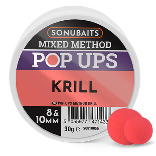 Sonubaits Mixed Method Pop Up Boilies 8 /& 10mm Round All Flavours