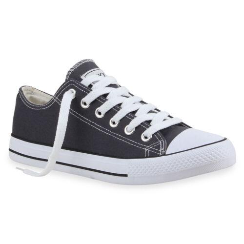 Herren Damen Sneaker Low Stoff Turnschuhe Schuhe Schnürer 821179 Modatipp