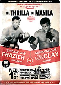 Thrilla-In-Manilla-Muhammad-Ali-Vs-Joe-Frazier-Boxing-Print-8x10-Cassius-Clay