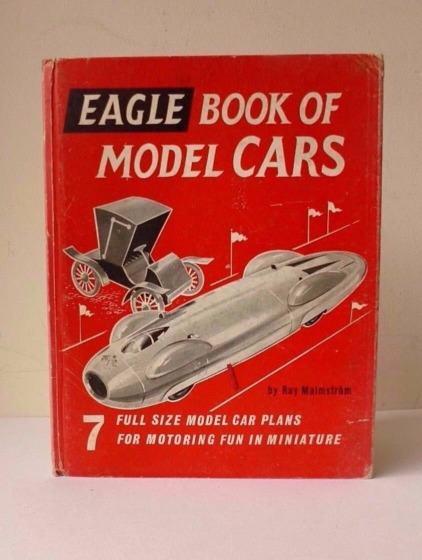 1961 EAGLE BOOK OF MODEL CARS 7 Model Car Plans inc. Donald Campbell's blueebird