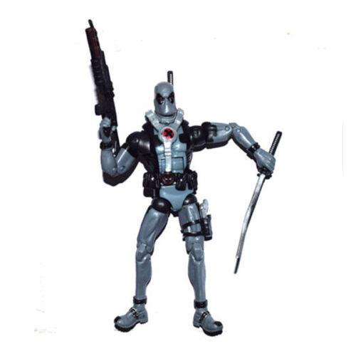 US SHIP Marvel Legends Comic Super Hero X Force Deadpool Gray Suit Action Figure