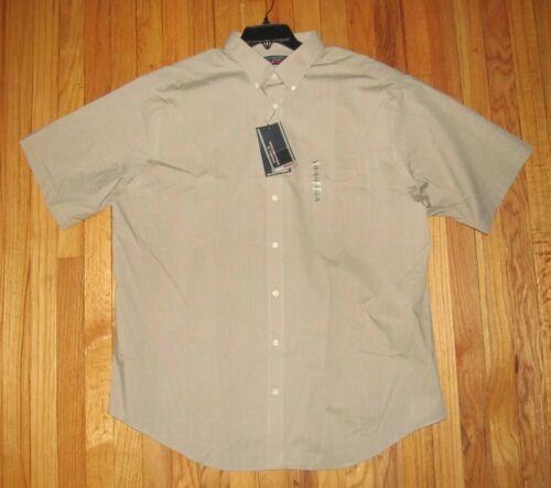3XLT NWT 2XLT Roundtree Mens SS Solid Dusty Brown  Dk Tan Travel Shirt XLT