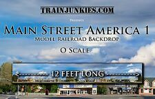 "TrainJunkies O Scale ""Main Street America 1"" Backdrop 144x24"" C-10 Brand New"