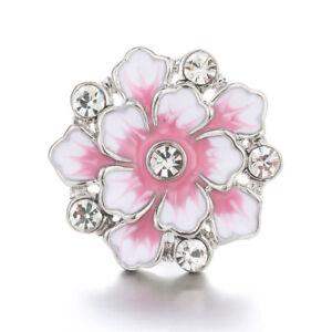 10pcs Cristal Alliage Charme Ginger Snap Bouton Pour Noosa Collier/bracelet N833-let N833 Fr-fr Afficher Le Titre D'origine éLéGant Dans Le Style