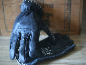 Vintage-Leather-motorcycle-gloves-Riggers-PREMIUM-harley-cruiser-cafe-racer