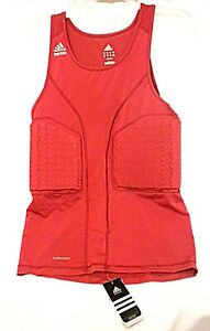 Details about ADIDAS XLT Basketball TECHFIT Padded Red Tank Compression Shirt Climacool New