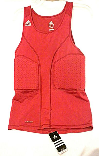 ADIDAS 3XT Basketball TECHFIT Padded Red Tank Compression Shirt Climacool New