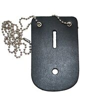 Universal Leather Badge Holder With Chain - Made In The Usa