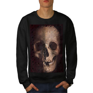 Human New uomo Rock Black Dead Skull Felpa EnBfxq0f