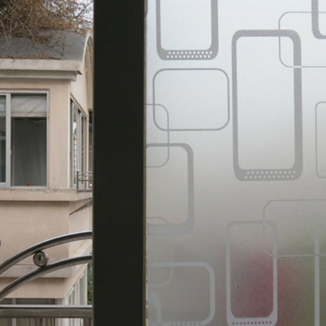 Waterproof Glass Frosted Bathroom window Decal Self Adhesive Film Wall Sticker L