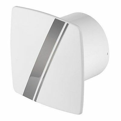 "4/"" Chrome Ventilator Kitchen  LB100T Bathroom Modern Extractor Fan Timer 100mm"