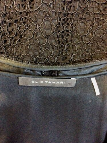 Size 8 Elie Black Lace Pencil Tahari Dress wfXSxqA1X