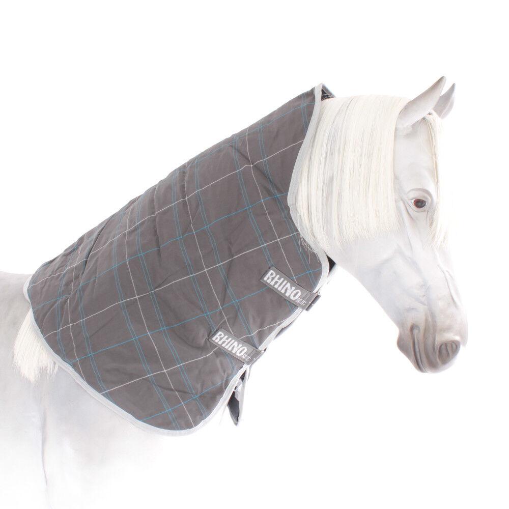 Horseware Rhino Turnout Hood 150g - Char bluee White - Halsteil