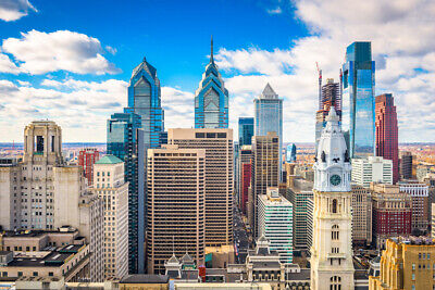 Philadelphia Pennsylvania Downtown Skyline Photo Art Print Poster 18x12