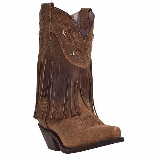 punti vendita Dingo Donna  Hang Low Low Low 9  Cowboy Western stivali Marrone Distressed DI7441  una marca di lusso