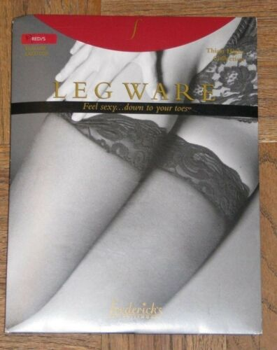 Frederick/'s of Hollywood Red S Scallop Lace Top Leg Ware Thigh High Collection