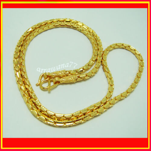 RICH 22K 23K 24K THAI BAHT GOLD GP NECKLACE 24 inch Jewelry 36 Grams 4 MM