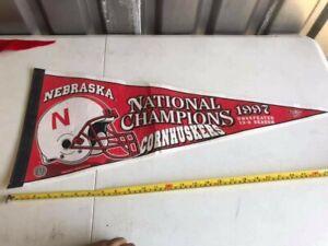 Vintage-Nebraska-Cornhuskers-1997-National-Champions-Pennant
