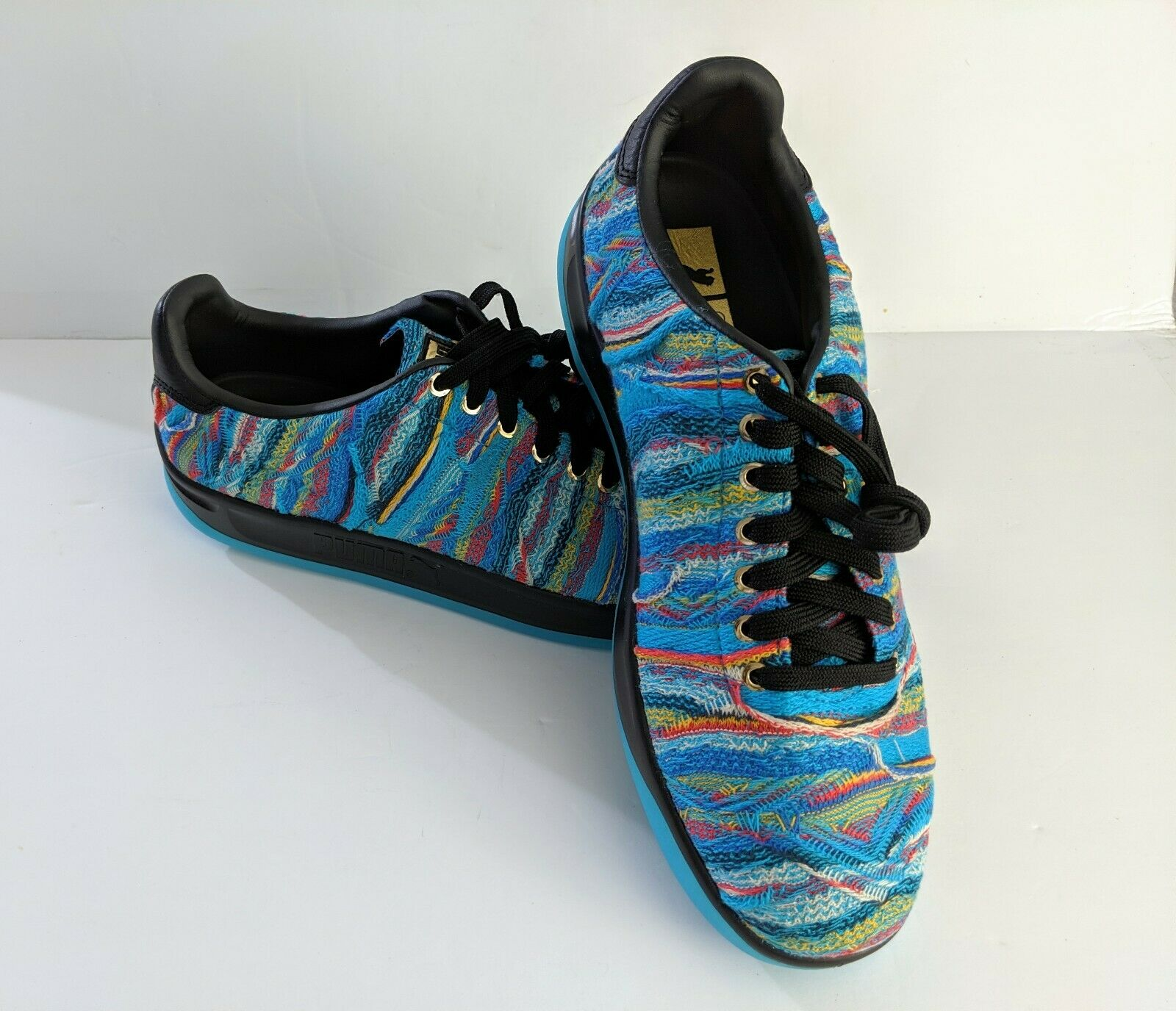 NEW Puma x Coogi California shoes bluee Atoll Black Men's Size 11 367973 01