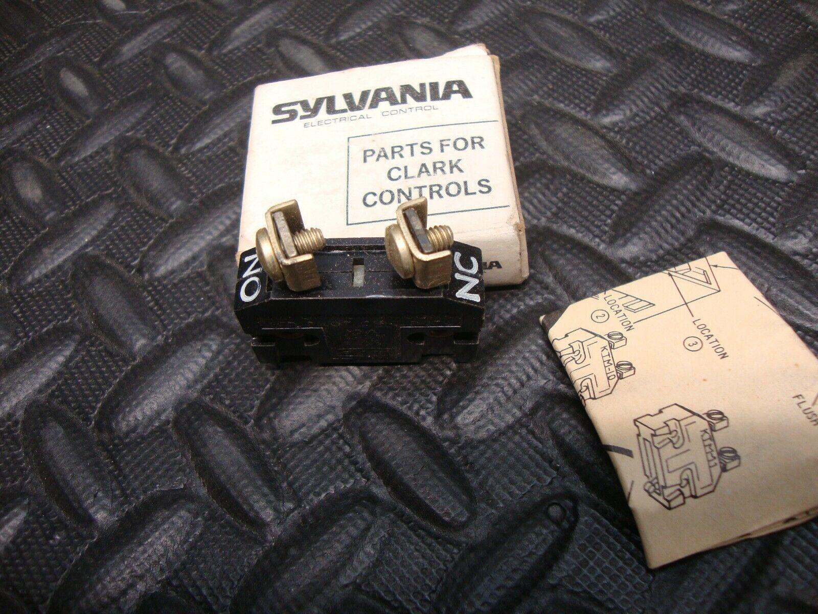 EACH KTM-10 Sylvania Joslyn Clark Auxiliary Contact KTM10 ..