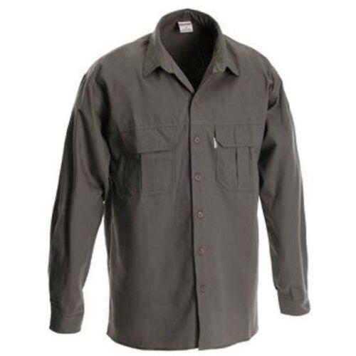 Rugged Wear Mens Crocodile Long Sleeve Shirt Safari//Camping//Bushcraft