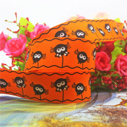 5M Halloween Ribbon Spider Web Pumpkin Ghost Gift WrappingTrim Edge DIY Decor
