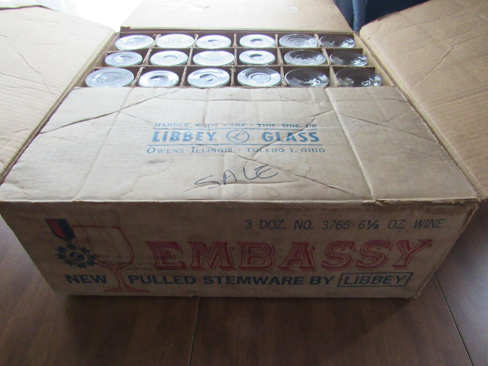 LIBBEY EMBASSY 3766 6.5 oz (environ 184.27 g) Pulled verres à pied verre à vin 36 Comte CASE ZZ1903