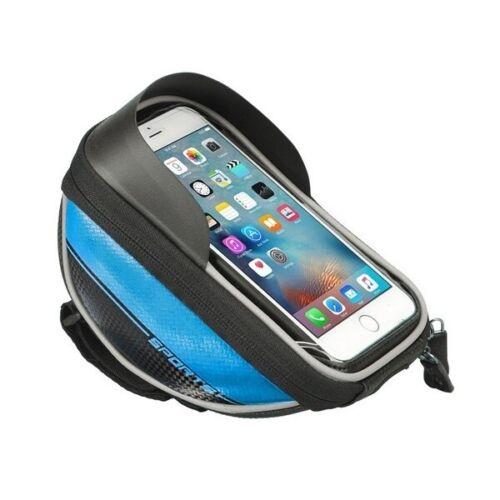 Bicycle Bike Cycling Front Frame Tube Handlebar Bag Waterproof for 5.5/'/' Mobile