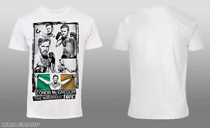 UFC-Men-039-s-Conor-McGregor-Image-Collage-Tee-Shirt-White-X-Large