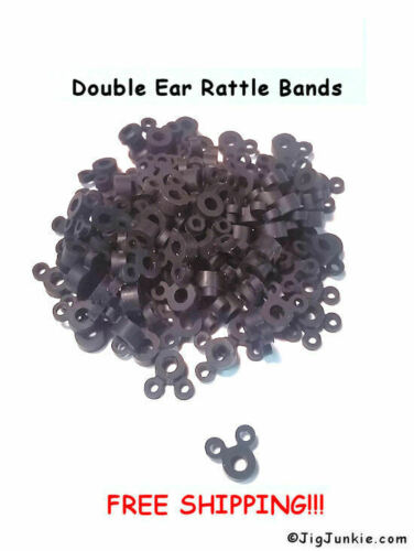SHIPS FROM USA DOUBLE EAR SILICONE JIG RATTLE COLLAR//BANDS