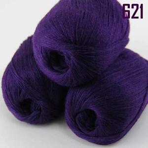 Sale-New-3-Skeins-x50g-Soft-Pure-Cashmere-Hand-Wool-Shawl-Scarf-Knitting-Yarn-21