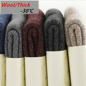 5-Pairs-Men-Womens-Wool-Cashmere-Thick-Warm-Dress-Casual-Soft-Solid-Socks-Winter