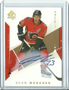 2018-19-SP-Authentics-Gold-Limited-Auto-Sean-Monahan-Calgary-Flames