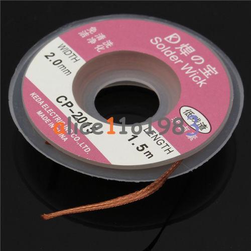 5Feet //1.5M 2mm Desoldering Braid Solder Remover Wick Cable Repair Tool  CP-2015