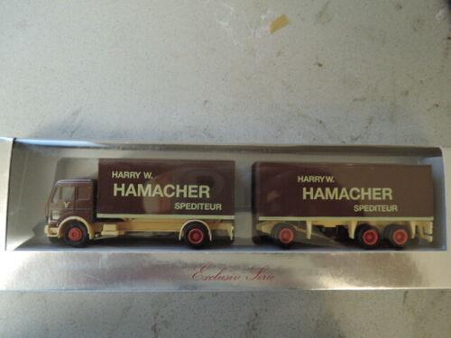 620 Herpa Exclusiv mercedes benz colgadores-remolcarse Hamacher spediton en embalaje original