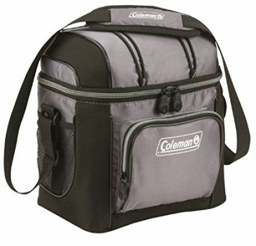 Cooler 9-Can Bag Soft Tote With Hard Liner Portable Lunch Picnic Food Storage