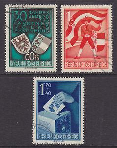 Austria-Sc-B269-B271-used-1950-Carinthia-Plebescite-Anniversary-cplt-VF