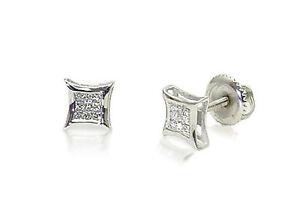 14K-White-Gold-Princess-Cut-Diamond-Earrings-Invisible-Set-Screw-Back-Studs