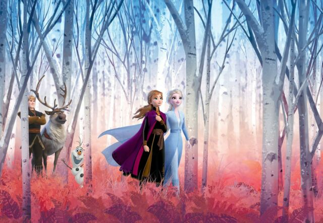 Elsa /& Anna Frozen bedroom wallpaper murals 254x184cm photo wall decor DISNEY