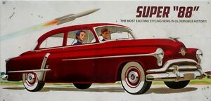 OLDSMOBILE-SUPER-88-with-an-aged-look-all-weather-sign-600mmx295mm