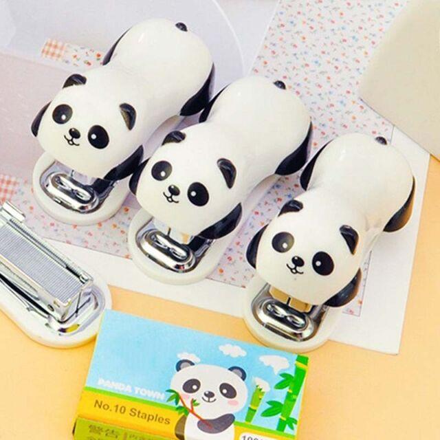 New Cute Panda Mini Desktop Stapler&Staple Hand Stapler Office/Home Easy Stapler