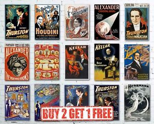 A3-Vintage-High-Quality-Magic-Magician-Show-Houdini-Thurston-Retro-Posters
